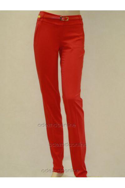 Узкие  брюки полной длины со средней посадкой, фото 1