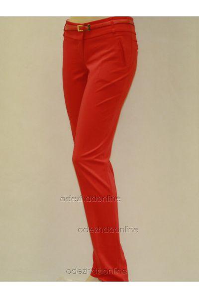 Узкие  брюки полной длины со средней посадкой, фото 2