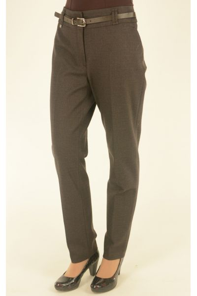 коричневые брюки Vivento в мелкую клетку