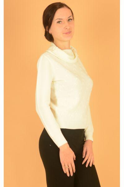 короткий молочный свитер Felicita