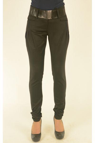черные брюки с широким поясом