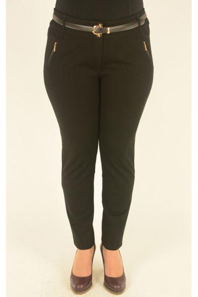 черные брюки Vivento с отделкой молниями