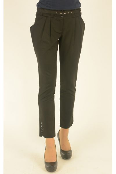 черные узкие укороченные брюки Vangeliza