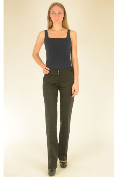 черные брюки с отстрочкой