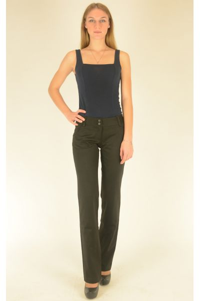 классические брюки с отстрочкой