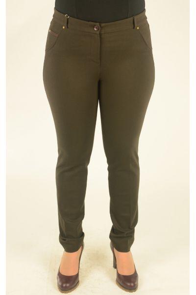шоколадные узкие брюки Alkis