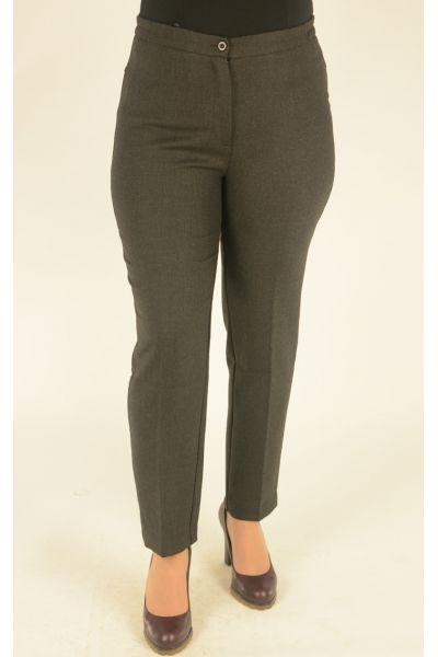 черно-серые брюки укороченные с высокой посадкой