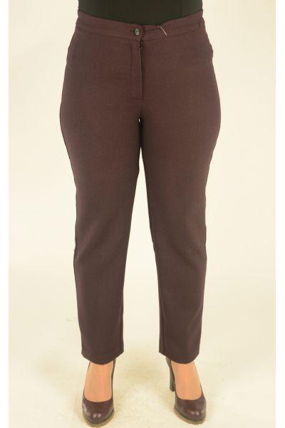 бордовые в клетку брюки укороченные с высокой посадкой